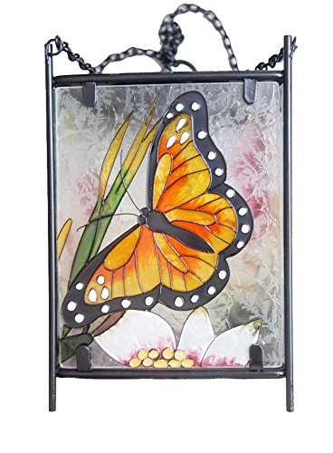 Painted Center (Continental Art Center Hand Painted Solar Lantern, Butterfly, 6 by 10 by)