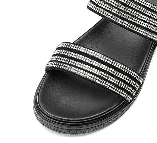 de Zapatillas Verano Moda Sandalias de S de Sandalias Color Dulces Ocasionales Planas DHG de Punta Mujer Sandalias de 8IOq4txdw