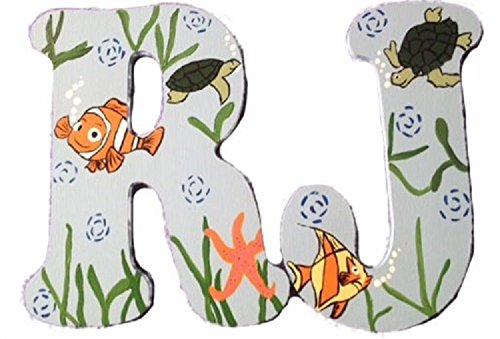 - FINDING NEMO CUSTOM HAND PAINTED WOODEN PLAYROOM WALL LETTERS-DORI LETTERS