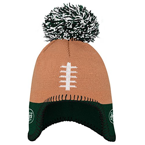 NFL New York Jets Infant Football Head Knit Hat Hunter Green, Infant One Size (Football Nfl Head)