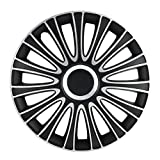 "Alpena 58287 Silver/Black 17"" Le Mans Wheel Cover Kit - Pack of 4"