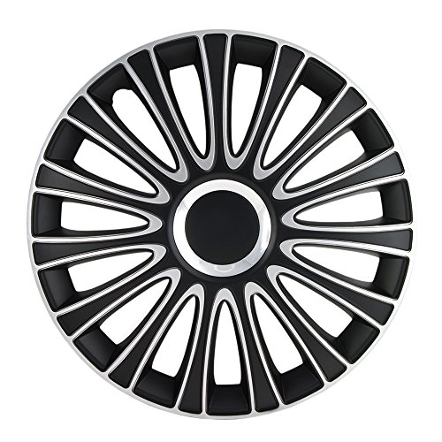 Alpena 58287 Le Mans Black-Silver Wheel Cover Kit - 17-Inches - Pack of 4 ()