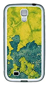 Galaxy S4 Case, Personalized Custom Protective Soft Rubber TPU White Edge Green Map Case Cover for Samsung Galaxy S4 I9500