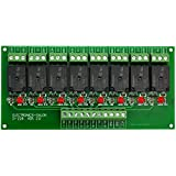 Electronics-Salon 8 Channel 10Amp SPDT Power Relay Module Board (Operating Voltage: DC 5V)