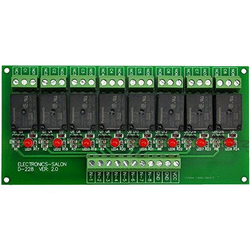 - Electronics-Salon 8 Channel 10Amp SPDT Power Relay Module Board (Operating Voltage: DC 5V)