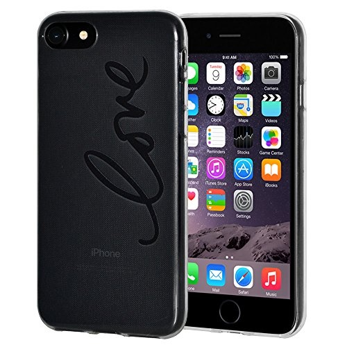 """Amzer """"Love"""" Soft Gel Klar TPU Skin Case für Apple iPhone 6/6S"""