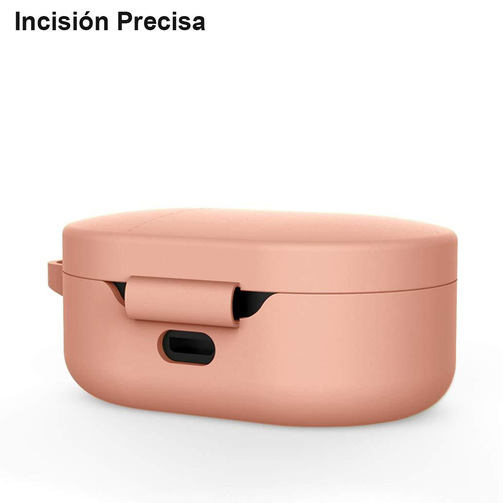 Yoowei Protectora de Silicona L/íquida con Gancho de Alpinismo para Airdots TWS Auriculares Bluetooth Negro /& Transl/úcido 2-Pack Funda para Xiaomi Mi Airdots TWS Protective Sleeve