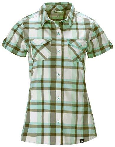 Salomon - Camisas - para mujer mosstone green/plastic-x/