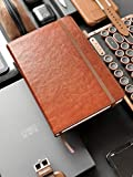 B6 Dotted Journal by Scribbles That Matter - Create Your Perfect Bujo with Ultra Thick 160gsm No Bleed Paper - Hardcover Notebook - Fountain Pens Friendly Paper - Tan