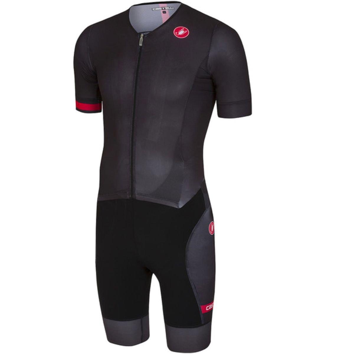 Castelli Free Sanremo Short-Sleeve Suit - Men's Black, S