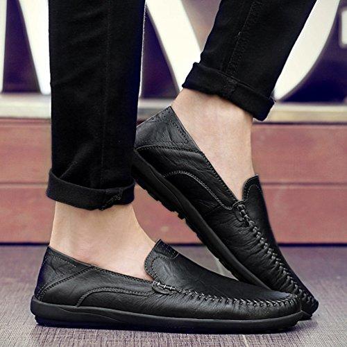 Hombre Zapatos Sintético Feidaeu Negro De 0SwFtxH