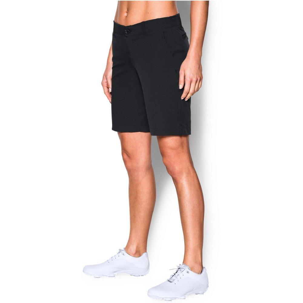 Under Armour Women's Links 9'' Shorts, Black (001)/Black, 12