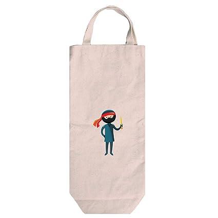 Amazon.com | Costume Ninja Cotton Canvas Wine Bag Tote With ...