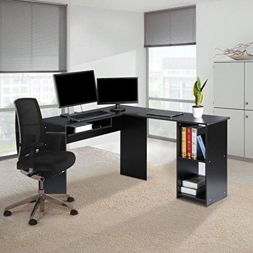 L Shaped Corner Desk Computer Workstation Home Office: LANGRIA L-Shaped Corner Computer Desk Home Office Work