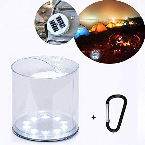 Camping Lights Inflatable Solar Light Portable High Brightness Waterproof LED Lantern for Hiking/Camping/Fishing/Surfing/Climbing/Car Emergency Light
