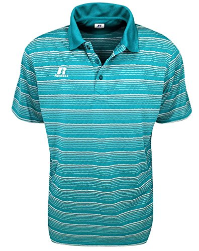 russell-athletic-striped-polo-cerulean-blue-size-xxxxl