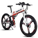 GUNAI-350W-48V-10Ah-Batteria-al-Litio-Bicicletta-Pieghevole-Bicicletta-Elettrica-Mountain-Bike-21-velocit-Sistema-di-Trasmissione-con-Freno-a-Disco-Idraulico-con-Sedile-Posteriore