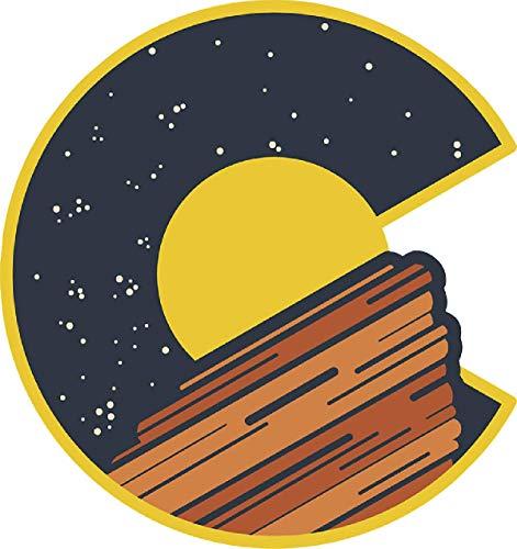 UNAMEIT Colorado C Red Rocks Sticker. Colorado Themed Sticker (3