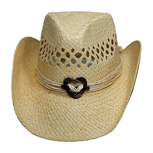 Natural Women's Cowboy Hat with Heart (Hats Cowboy Women)