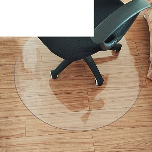 - OSJCYASBZ Non-Slip Transparent mat Plastic Flooring mat Wood Floor Protector Office Computer Chair mat PVC Round Ground mat-B 90x120cm(35x47inch)
