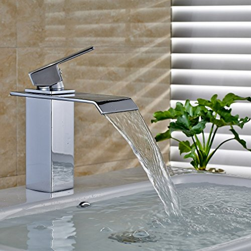 Auralum disegno unipolare rubinetto della cucina cascata miscelatore monocomando lavabo acqua - Acqua calda per andare in bagno ...
