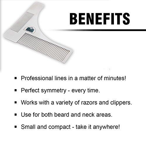 essentials beard shaping symmetric tool comb for shaving my beard shop th. Black Bedroom Furniture Sets. Home Design Ideas
