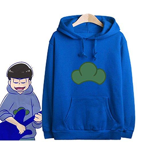 Japanese Manga SIX SAME FACES Konya wa Saikou Mr.Osomatsu San ED Anime Candy Colorful Jacket Hoodie Sweater (Purple, XL)