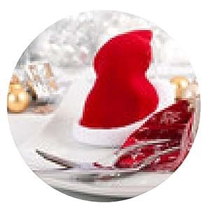 alfombrilla de ratón menú de Navidad © yvonneweis - ronda - 20cm