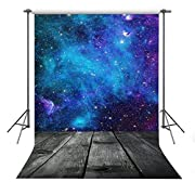 FUERMOR Background 5x7ft Blue Starry Sky Photography Backdrop Space Theme Party Children Photo Props RQ011