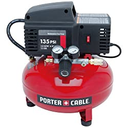 Porter Cable PCFP02003 3.5 Gallon 135 PSI Pancake Compressor - Best for Low Maintenance
