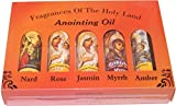 Holy Land Market Religious Samples - 5 different anointing oils set from the Holy Land