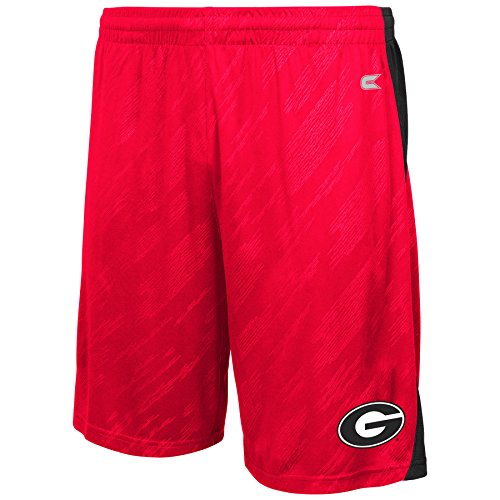 Colosseum NCAA Men's Sleet Shorts-Georgia (Georgia Bulldogs College Basketball)