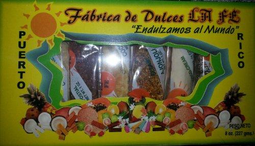 Assortment of Puerto Rican Candies By Fabrica De Dulces La Fe (8 Pieces) 1 Oz Each Product Assortment