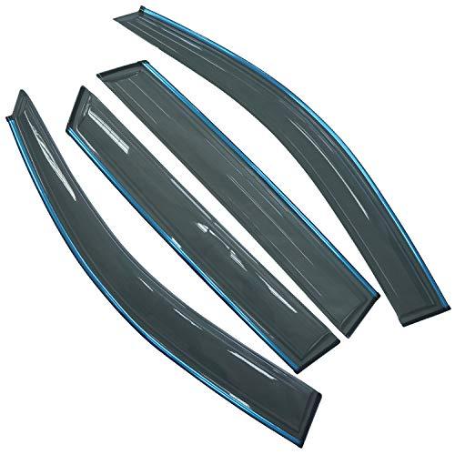 biosp Vent Visor For Kia Sorento 2012 2013 2014 2015 2016 2017 2018 2019 Rain Sun Shade Window Deflectors Shield Wind Guard Side-Custom Fit 4 Pcs Set Smoke Gray