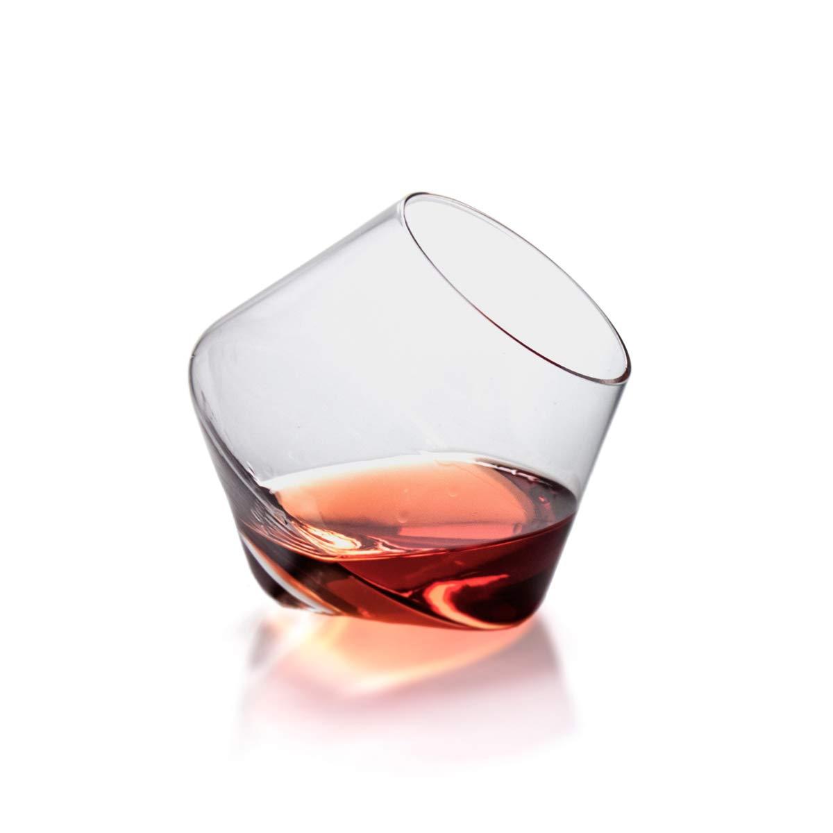 Sempli Cupa-Rocks Clear Whiskey Glasses, Set of 2 in Gift Box CUPRX