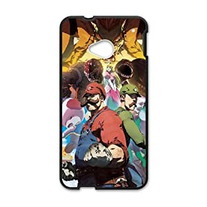 HTC One M7 Cell Phone Case Black Nintendo Mario SU4465427