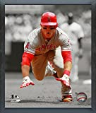 "Mike Trout Los Angeles Angels Spotlight Action Photo (Size: 9"" x 11"") Framed"
