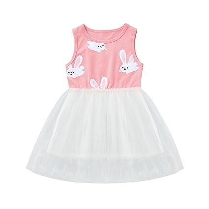 67e7c4c43ed1a Ankola Girl's Tutu Dress,Baby Girls Infant Kids Rabbit Print Tutu Casual  Dresses Princess Dress