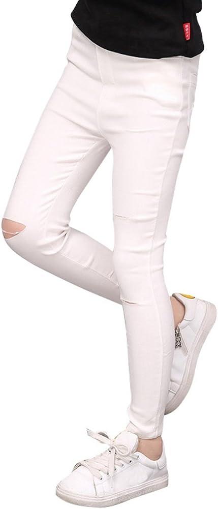 Loveble Strappato Jeans Slim Fit Per 3-13 Ragazze//Ragazze Adolescenti