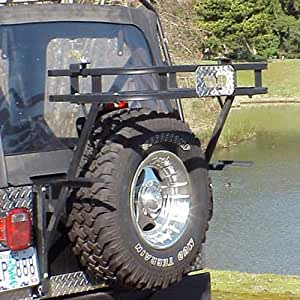 Warrior Products Adventure Rack >> Amazon.com: Warrior Products 832 Universal Adventure Rack with Swing-Away Tire Carrier for Jeep ...