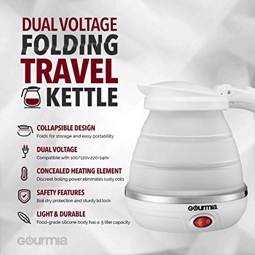 Gourmia Gk320 Travel Foldable Electric Kettle Dual