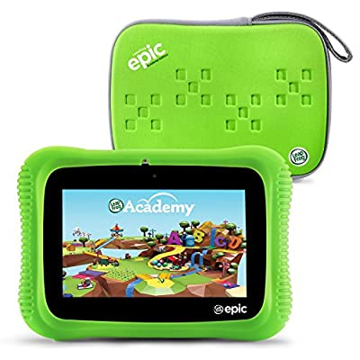 "LeapFrog Epic Academy Edition 7"" Android 2.0 Based Kids Tablet 16GB with Carrying Case, Green from LeapFrog"