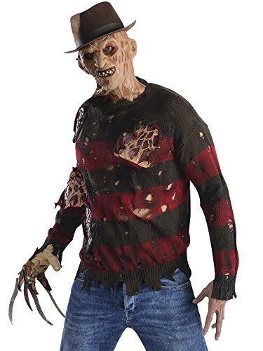 Rubie's Men's Nightmare On Elm St Adult Costume Sweater with Burning Latex Flesh, Multicolor, Standard ()