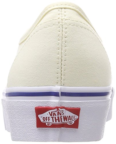 Mujer Para 0 Blanco Vans Platform canvas Zapatillas Authentic 2 HqPYxRX