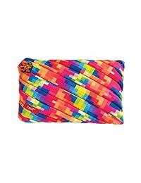 Zipit Pixel - Estuche para lápices y neceser de maquillaje, bolsa grande, Amarillo, 9.06*0.78*5.91 inch (L*W*H)
