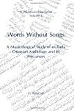 Words Without Songs, O. Wright, 0728602091