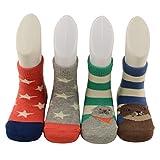 Baby socks,Baby girl socks,Baby boy socks,Unisex Babys Toddlers Non-slip Socks 6-12 Months 4 Pairs