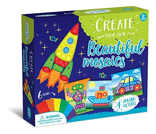 Mosaic Sticker Craft Activity Kit - Vehicles