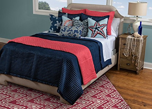 Rizzy Home QLTBT2021NV001692 Parker Quilt, Navy, King