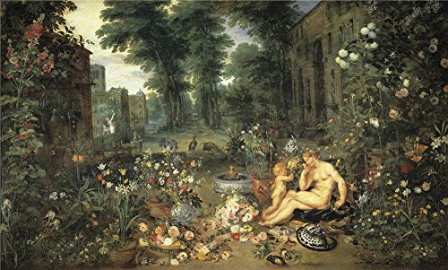 The High Quality Polyster Canvas Of Oil Painting 'Rubens Peter Paul Brueghel The Elder Jan Smell Ca. 1617 ' ,size: 8 X 13 Inch / 20 X 34 Cm ,this - Orle Brown